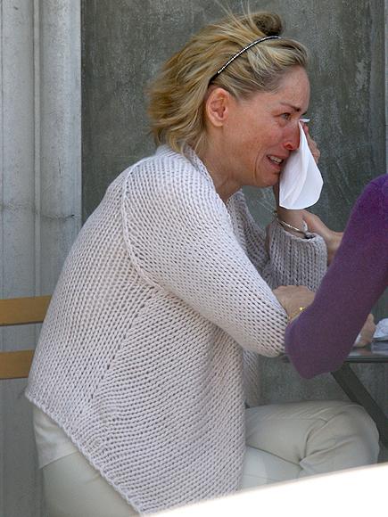 Sharon Stone, Los famosos también lloran