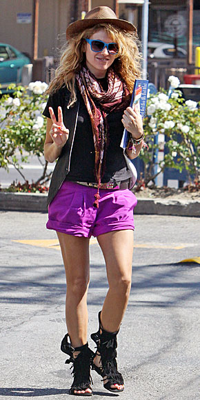 PAULINA RUBIO, shorts