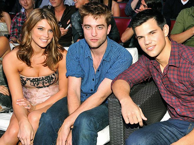 Robert Pattinson, Ashley Greene, Taylor Lautner