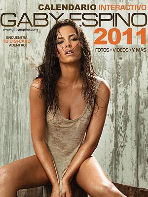 Portada del calendario de Gaby Espino 2011