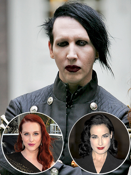 Marylin MAnson, Dita Von Teese, Evan Rachel Wood, Parejas disparejas