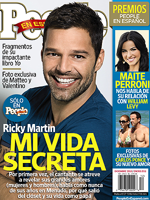 Ricky Martin en la edición diciembre/enero de PEOPLE EN ESPAÑOL
