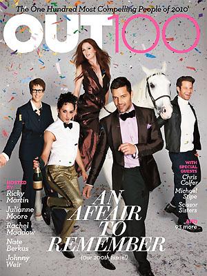 Ricky Martin en la portada de Out