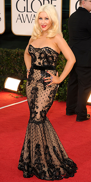 Christina Aguilera, Golden Globes 2011
