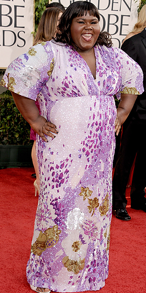 Gabourey Sidibe, Golden Globes 2011