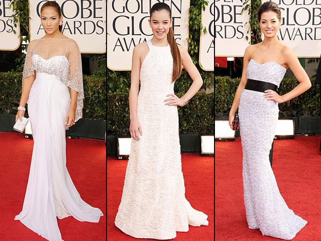 Jennifer López, Hailee Steinfeld, Gia Mantegna, Golden Globes 2011