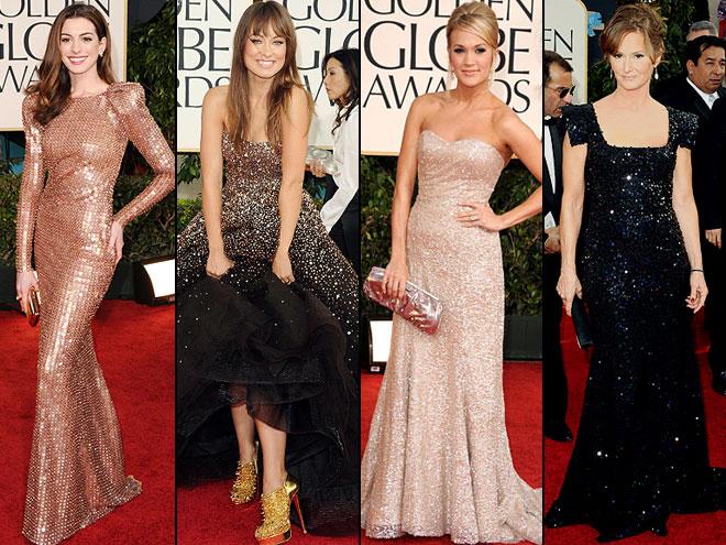 Anne Hathaway, Olivia Wilde, Carrie Underwood, Melissa Leo, GOlden Globes 2011