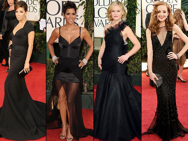 Eva Longoria, Halle Berry, Julia Stiles, Jayma Mays, Golden Globes 2011