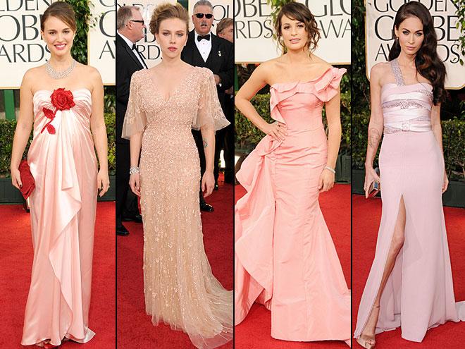 Natalie Portman, Lea Michele, Scarlett Johansson, Megan Fox, Golden Globes 2011