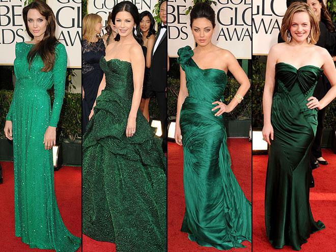 Angelina Jolie, Catherine Zeta-Jones, Mila Kunis, Elisabeth Moss, Golden Globes 2011
