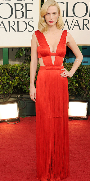 January Jones, Golden Globes 2011