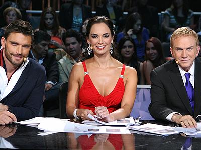 Julián Gil, Lupita Jones y Osmel Sousa en Nuestra belleza latina