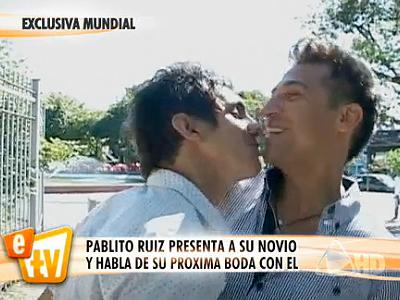 Pablito Ruiz y su novio Emiliano Tarazzino