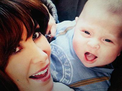 Natalia Streignard y su hijo Jacques