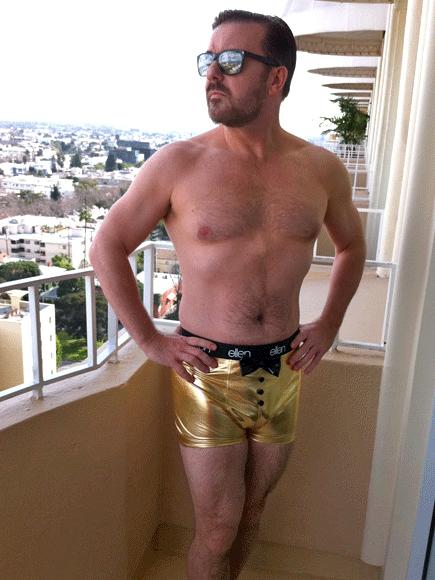 Ricky Gervais, Cuerpazos en Twitter