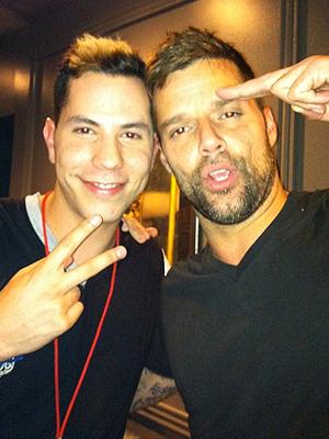 Christian Chávez y Ricky Martin
