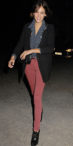 ALEXA CHUNG, Jeans de colores