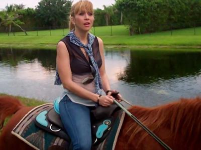 Noelia y su caballo Walker