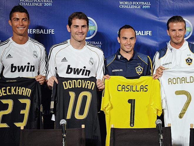 Cristiano Ronaldo, Iker Casillas, London Donovan, David Beckham