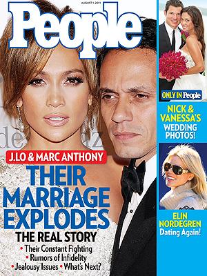 La verdadera historia de la ruptura entre J.Lo y Marc Anthony en PEOPLE