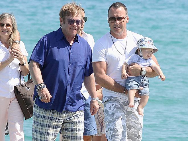 Elton John, DAvid Furnish, Zachary