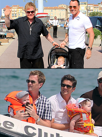 Elton John, Davif Furnish, Neil Patrick Harris, David Burtka