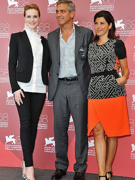 EVan Rachel Wood, George Clooney, Marisa Tomei