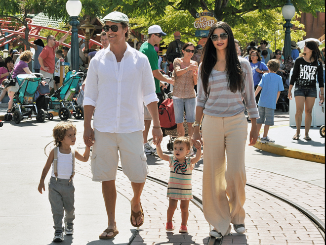 Matthew McConaughey, Camila Alves, Levy, Vida, Momentos en familia