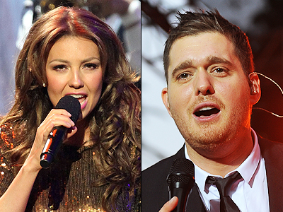 Thalia y Michael Buble