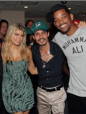 Fergie, Marc Anthony y Will Smith