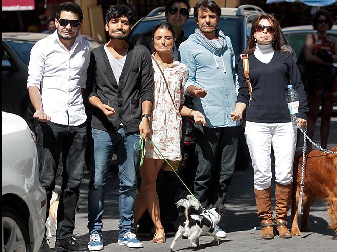 José Edurado Derbez, Aislinn Derbez, Eugenio Derbez, Alessandra Rosaldo