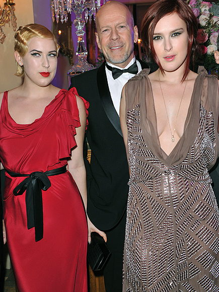 Bruce Willis, Scout Larue Willis, Rumer Willis