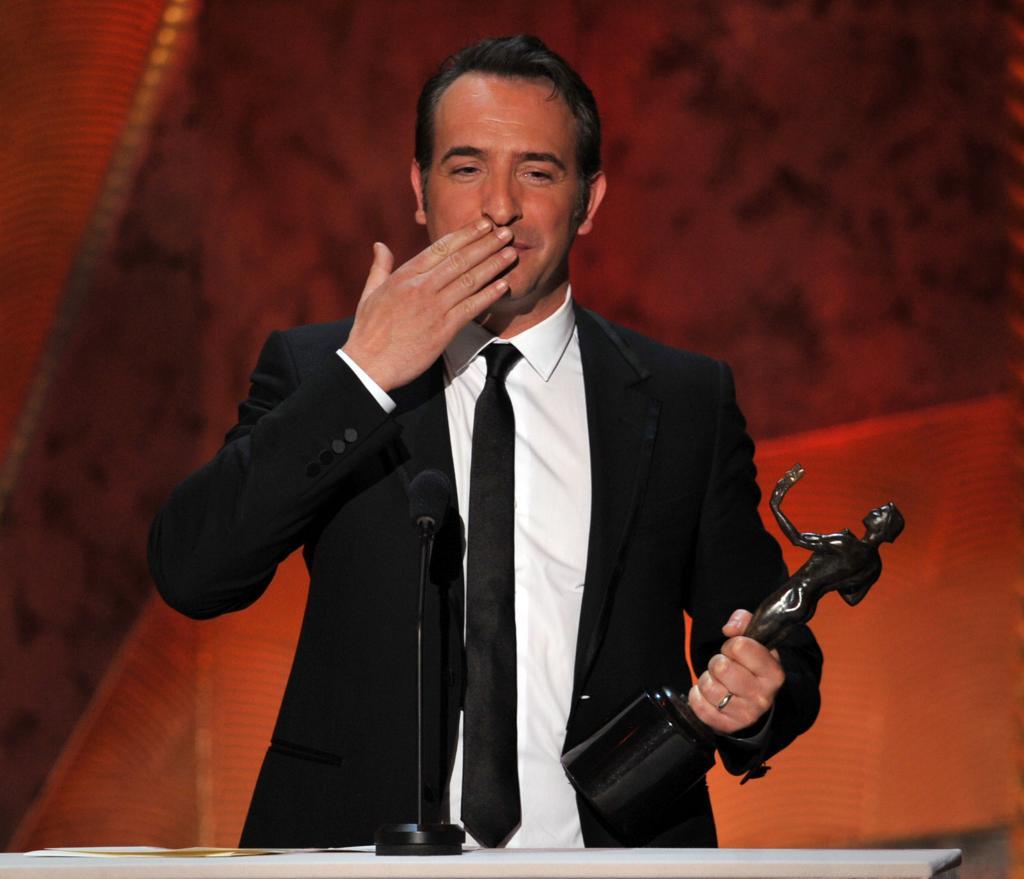 """Jean Dujardin ganó el SAG como Mejor Actor Protagónico en una Película por """"The Artist"""""""