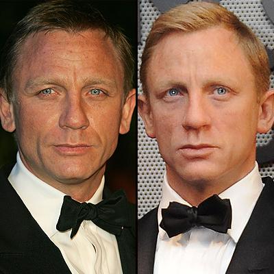 Daniel Craig, Figuras cera
