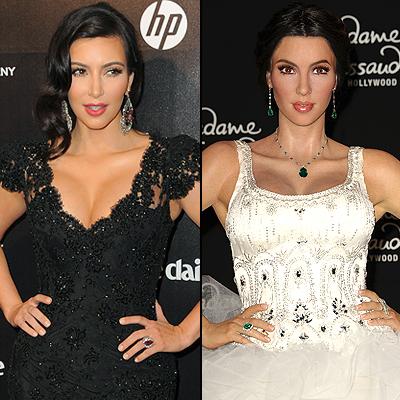 Kim Kardashian, Clones de cera 2012