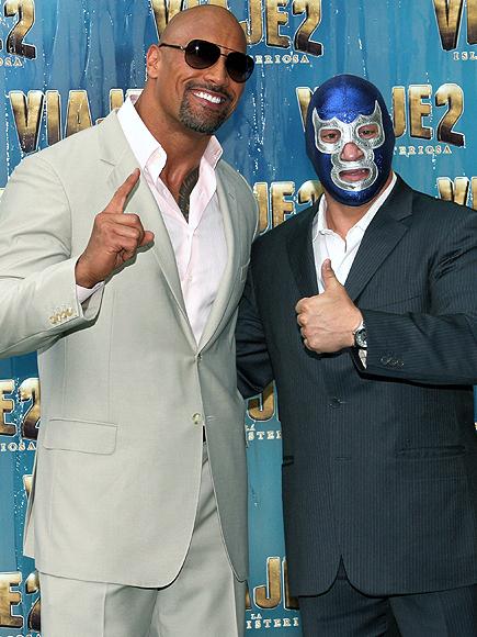 """Dwayne Johnson """"The Rock"""", Blue Demon"""