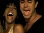 Whitney Houston y Enrique Iglesias