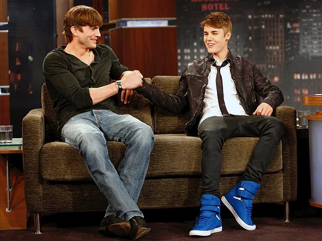 Ashton Kutcher, Justin Bieber