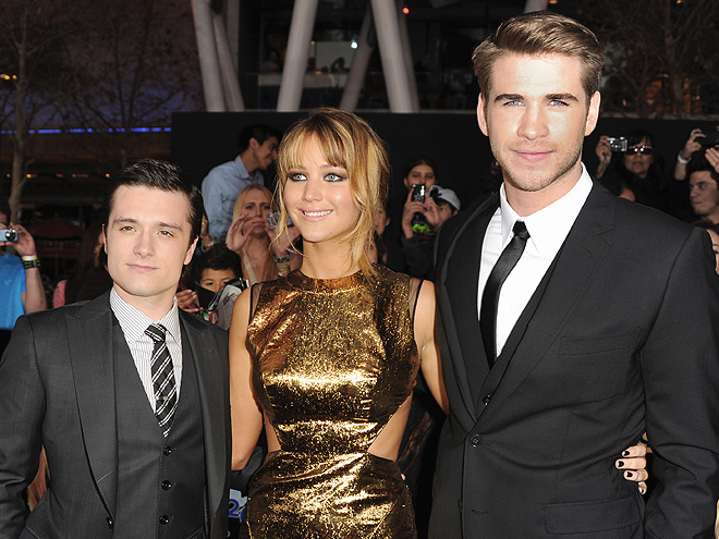 Josh Hutcherson, Jennifer Lawrence, Liam Hemsworth