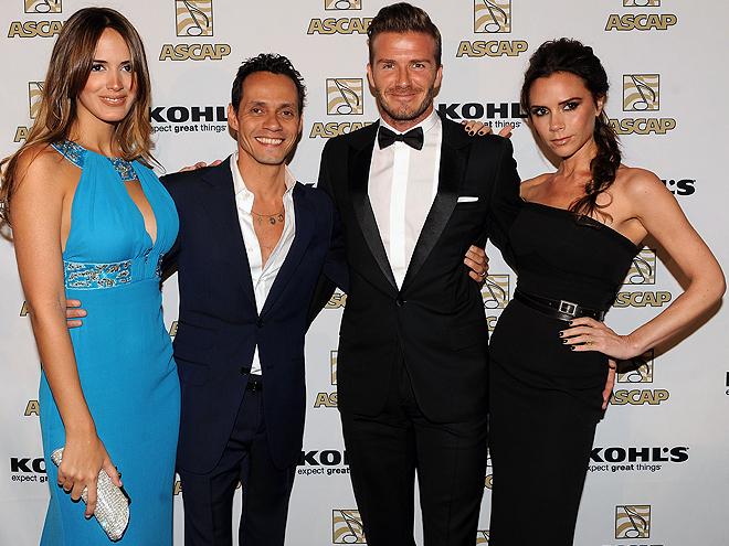 Shannon De Lima, Marc Anthony, David Beckham, Victoria Beckham