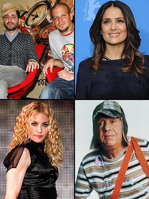 Madonna, Chspirito, Salma Hayek, Calle 13, Innovadores