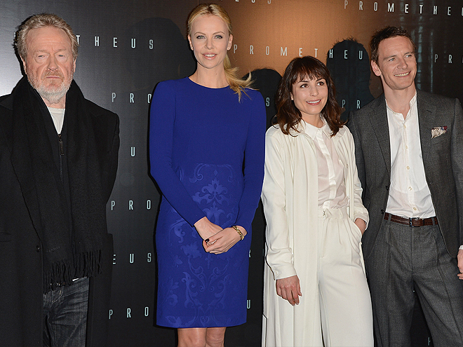Ridley Scott, Charlize Theron, Noomi Rapace, Michael Fassbender