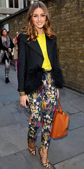 OLIVIA PALERMO, Floral pants