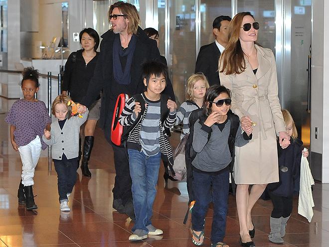 Angelina Jolie, Brad Pitt, Shiloh, Pax, Knox