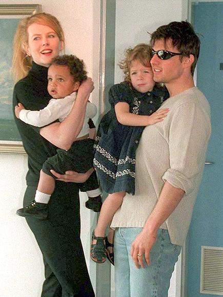 Nicole Kidman, Tom Cruise, Isabella, Connor, Galería adoptados