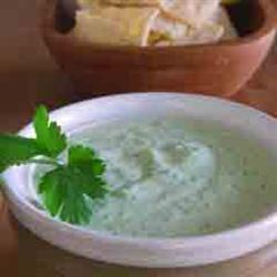 Salsa de cilantro y mayonesa