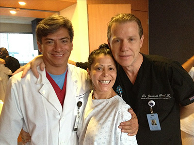 Alejandra Guzmán y personal médico