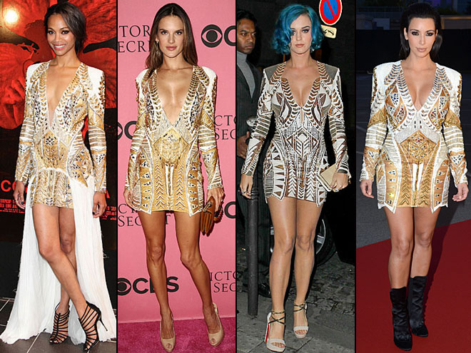 Kim Kardashian, Zoe Saldaña, Alessandra Ambrosio, Katy Perry, Dos mujeres