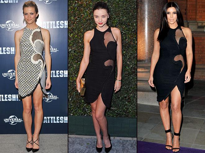 Kim Kardashian, Miranda Kerr, Brooklyn Decker, Dos mujeres