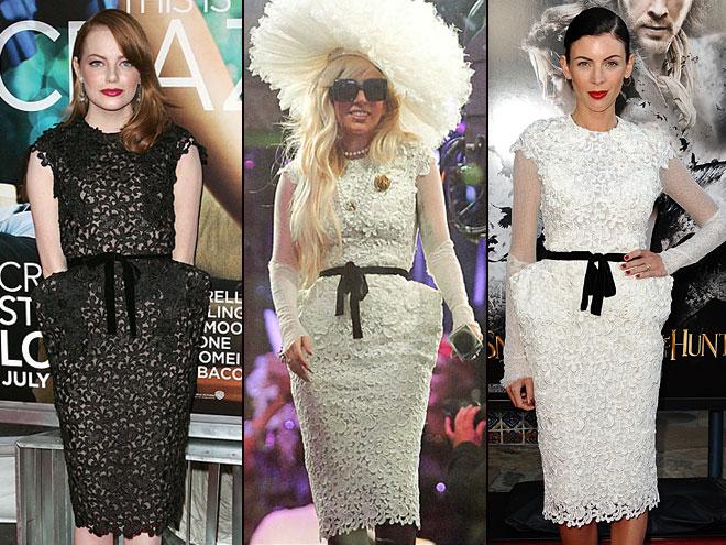 Emma Stone, Lady Gaga, Liberty Ross, Dos mujeres